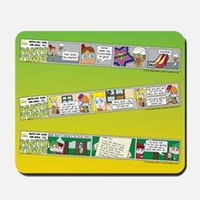 Pantomime Comic Strips Mousepad