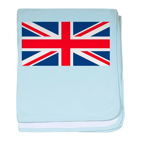United Kingdom Union Jack Flag baby blanket