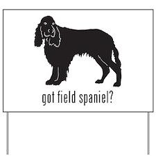 Field Spaniel 2 Yard Sign