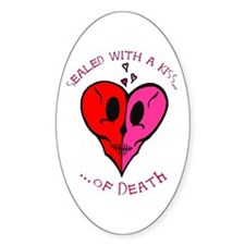 Kiss of Death Oval Decal