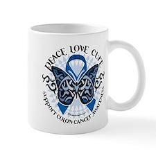 Colon Cancer Tribal Butterfly Mug