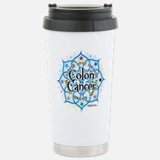 Colon Cancer Lotus Travel Mug