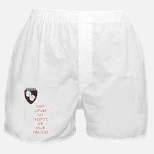 God Loves Us Boxer Shorts