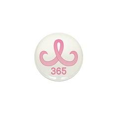 Pink Ribbon 365 Mini Button (100 pack)