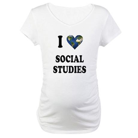I Love School Shirts Gifts Maternity T-Shirt