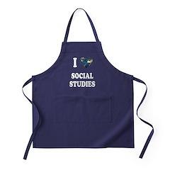 I Love School Shirts Gifts Apron (dark)
