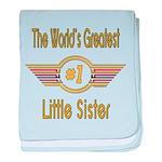 Number 1 Little Sister Infant Blanket
