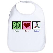 Peace Love Autism Bib