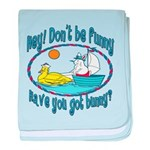 Bunny, Duck and Boat Infant Blanket