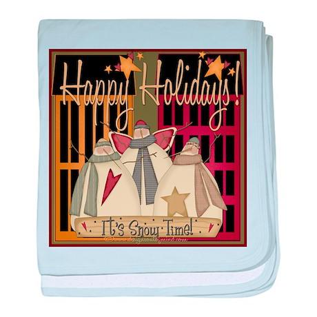 Happy Holidays Infant Blanket