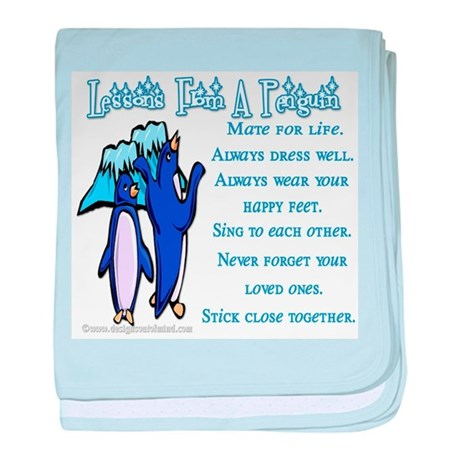 Lessons from a penguin Infant Blanket
