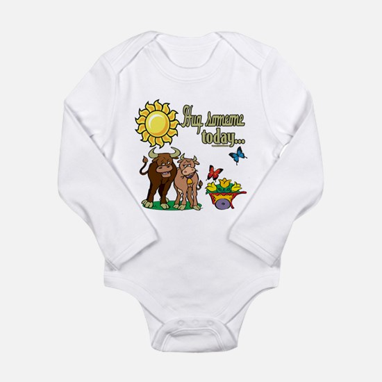 Hug Someone Cows Long Sleeve Infant Bodysuit