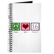 Peace Love Sweet 16 Journal