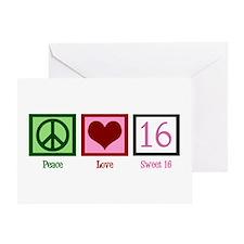 Peace Love Sweet 16 Greeting Card