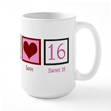 Peace Love Sweet 16 Mug