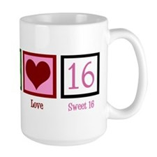 Peace Love Sweet 16 Mug