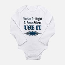 Right To Remain Silent Long Sleeve Infant Bodysuit