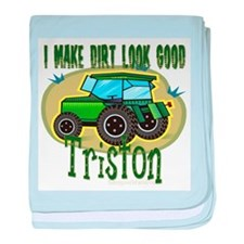 Triston Tractor Infant Blanket