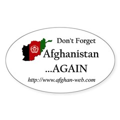 Don't Forget Afghanistan Oval Decal