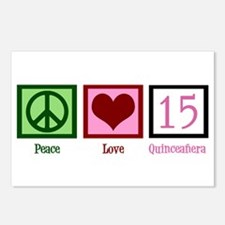 Peace Love Fifteen Postcards (Package of 8)