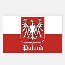 Poland Flag / Polish Flag Postcards (Package of 8)