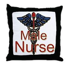 Funny Male nurse Throw Pillow