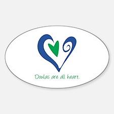Doulas All Heart Green Sticker (Oval)