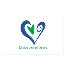 Doulas All Heart Green Postcards (Package of 8)