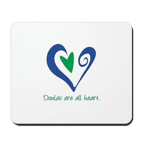 Doulas All Heart Green Mousepad
