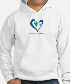 Doulas All Heart Green Hoodie