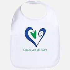 Doulas All Heart Green Bib
