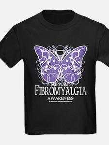 Support Fibromyalgia Butterfl T