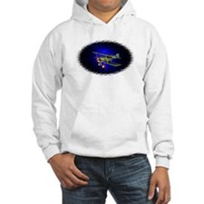 Airplane on blue Hoodie