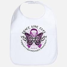Fibromyalgia Butterfly Tribal Bib
