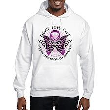 Fibromyalgia Butterfly Tribal Hoodie