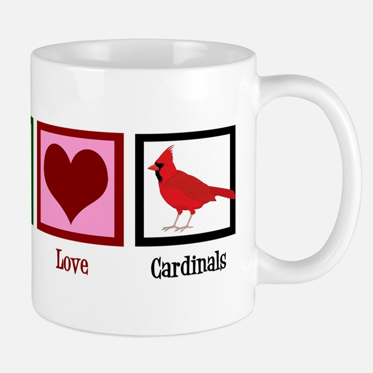 Peace Love Cardinals Mug