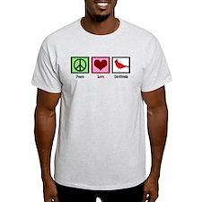 Peace Love Cardinals T-Shirt