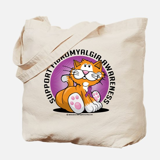 Support Fibromyalgia Cat Tote Bag