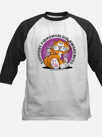 Support Fibromyalgia Cat Kids Baseball Jersey