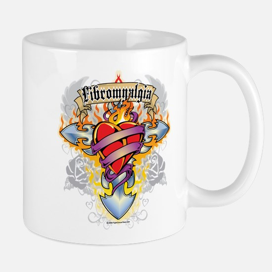 Fibromyalgia Cross & Heart Mug
