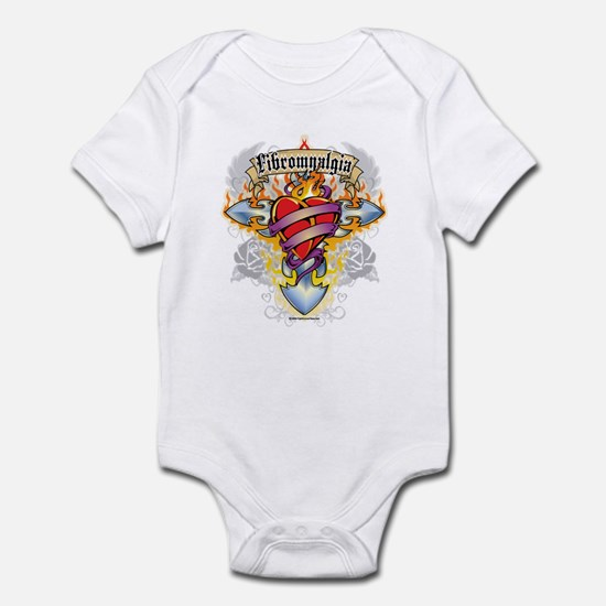 Fibromyalgia Cross & Heart Infant Bodysuit