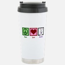 Peace Love Bunnies Travel Mug