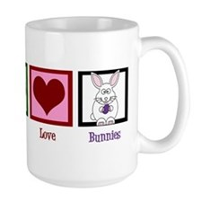 Peace Love Bunnies Mug