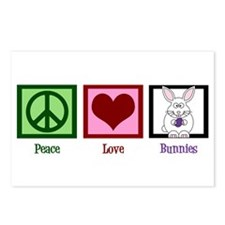 Peace Love Bunnies Postcards (Package of 8)