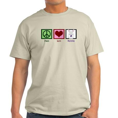 Peace Love Bunnies Light T-Shirt