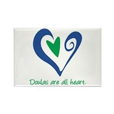 Doulas All Heart Green Rectangle Magnet (100 pack)