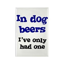 In Dog Beers I've Only Had On Rectangle Magnet