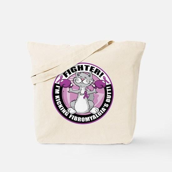 Fibromyalgia Cat Fighter Tote Bag