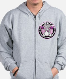 Fibromyalgia Cat Fighter Zip Hoodie