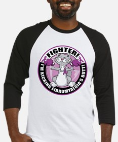 Fibromyalgia Cat Fighter Baseball Jersey